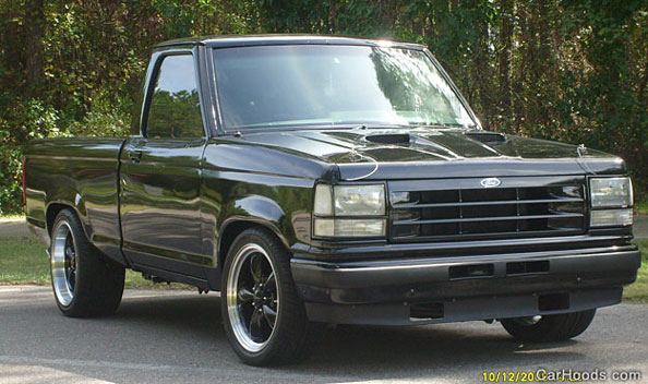 89-92 Ranger Mach I Hood, Composite-Tech Just $589 00  Ram air, cowl