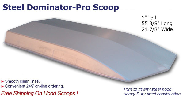 Cowl Induction Hood Scoops : Quot dominator pro cowl induction scoop steel free